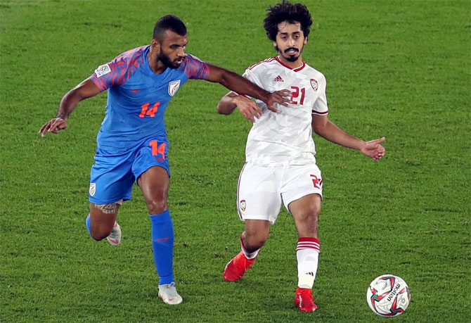 Rediff Sports - Cricket, Indian hockey, Tennis, Football, Chess, Golf - Asian Cup: Gutsy India go down fighting to UAE