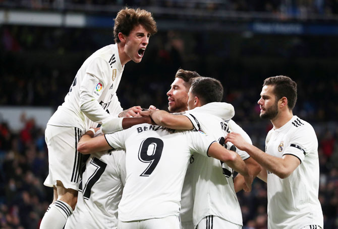 Rediff Sports - Cricket, Indian hockey, Tennis, Football, Chess, Golf - Copa del Rey: Real Madrid finally chalk up a win