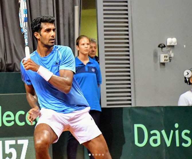 Rediff Sports - Cricket, Indian hockey, Tennis, Football, Chess, Golf - Prajnesh only third Indian in five years to play in a Grand Slam