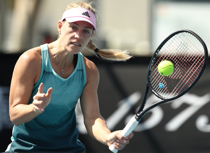 Rediff Sports - Cricket, Indian hockey, Tennis, Football, Chess, Golf - Aus Open: Kerber feels solid again; Halep admits behind curve
