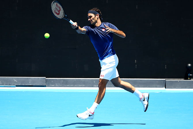 Rediff Sports - Cricket, Indian hockey, Tennis, Football, Chess, Golf - Federer feeling 'lucky' ahead of Aus Open hat-trick bid