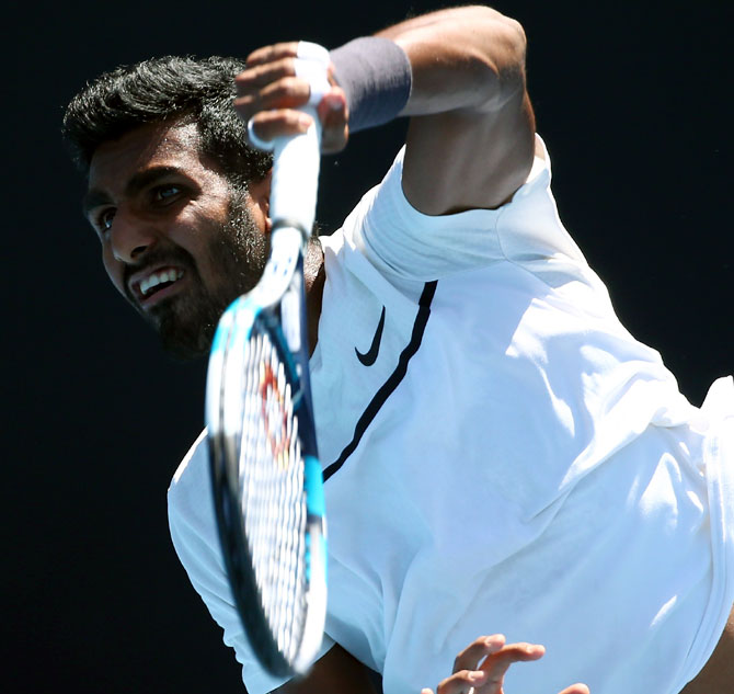 Rediff Sports - Cricket, Indian hockey, Tennis, Football, Chess, Golf - Why Prajnesh struggled on debut at Aus Open