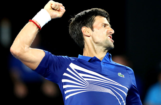Rediff Sports - Cricket, Indian hockey, Tennis, Football, Chess, Golf - Aus Open PIX: Ruthless Djokovic, Serena, Zverev march forth