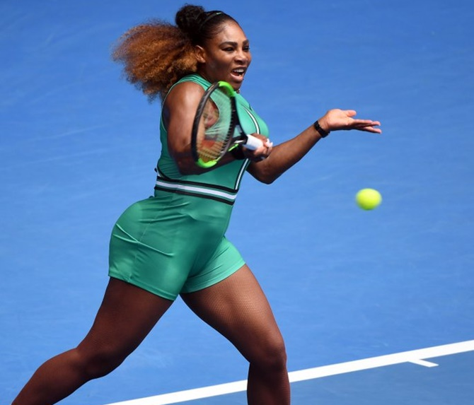 Rediff Sports - Cricket, Indian hockey, Tennis, Football, Chess, Golf - Stunning! From catsuit to Serena-tard