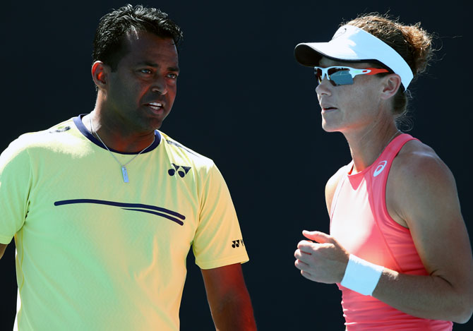 Rediff Sports - Cricket, Indian hockey, Tennis, Football, Chess, Golf - Paes-Stosur crash out of Australian Open