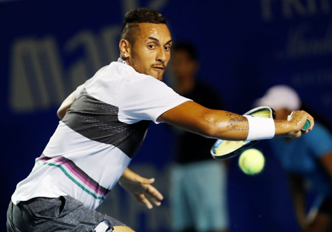Tennis round-up: Kyrgios braves injuries to down Wawrinka
