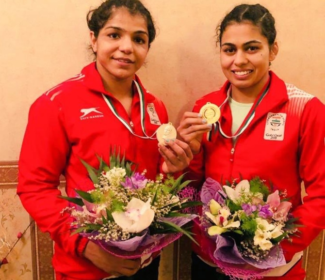 Wrestling: Dhanda wins gold, silver for Sakshi; Vinesh in final