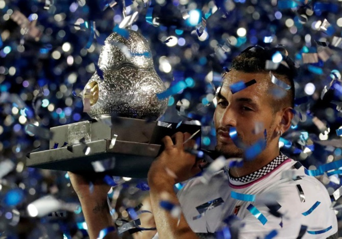 Kyrgios drops Zverev to win Acapulco title