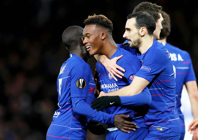 Europa League Pix Chelsea Too Strong For Kiev Arsenal Lose