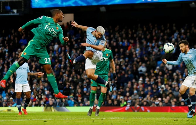 EPL PHOTOS: Man City surge clear through Sterling as Spurs suffer