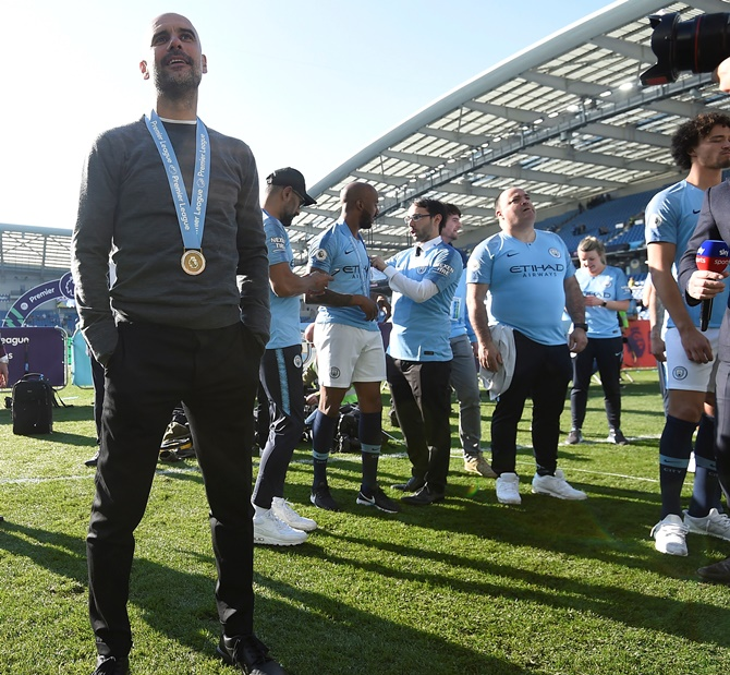 City Boss Pep Guardiola S Trophy Cabinet Rediff Sports