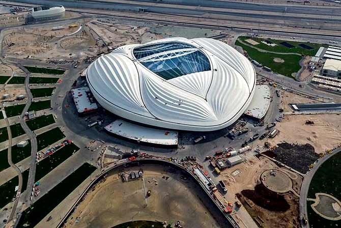 PIX: Qatar unveils fully air-conditioned WC stadium