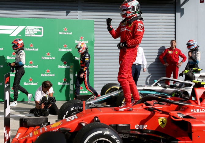 Leclerc sparks Ferrari celebrations with Italian GP win