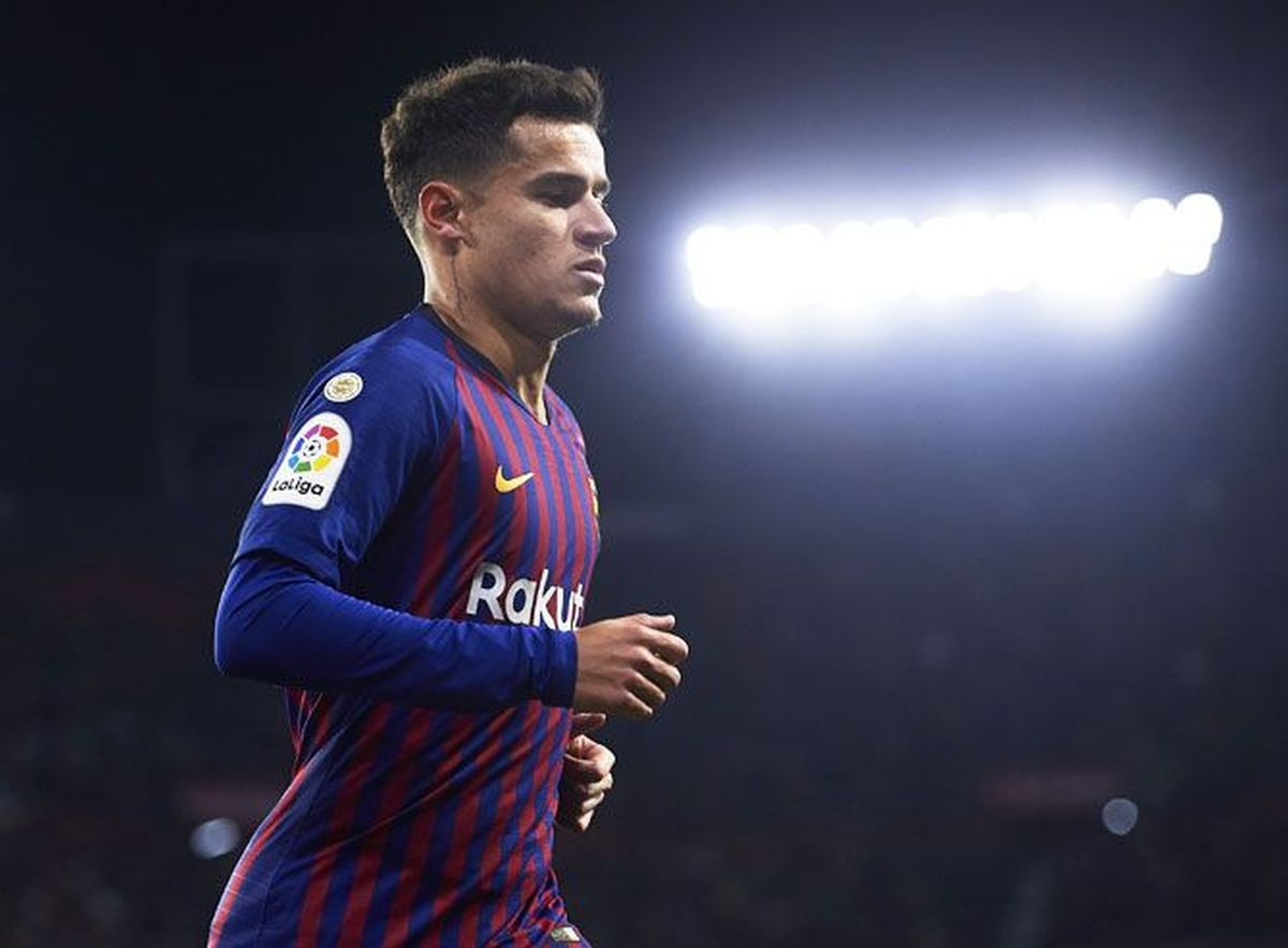 Philippe Coutinho suffered an injury during Barca's 1-1 draw against Eibar on Tuesday