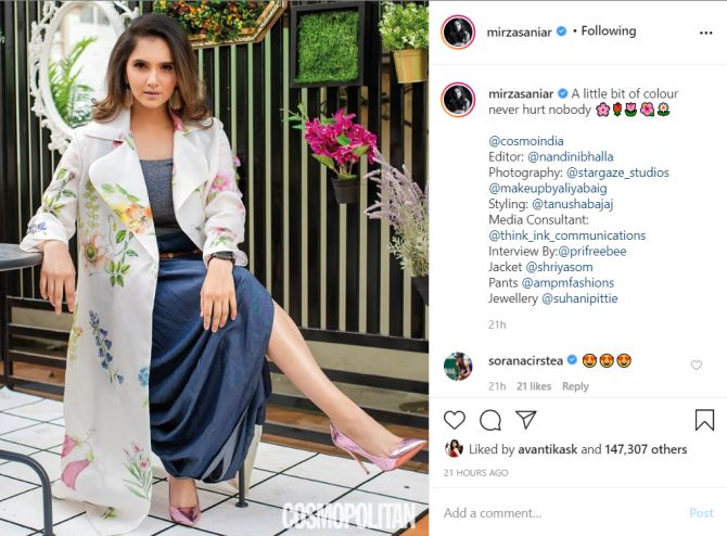 Sania Mirza looks like a dream in this magazine photoshoot
