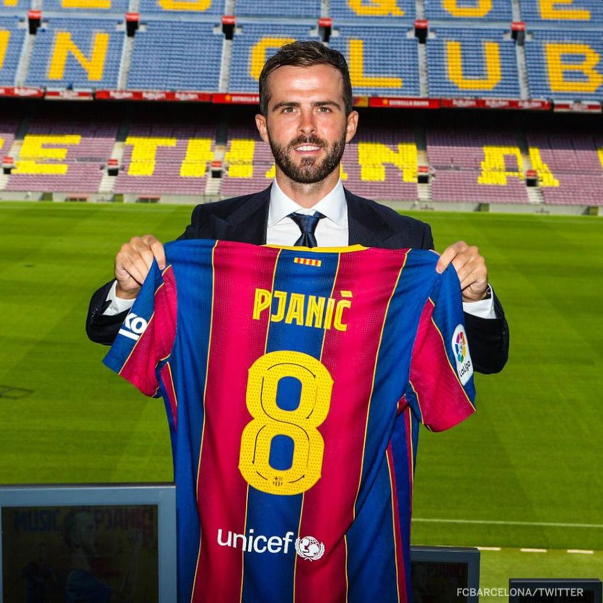 Miralem Pjanic joined Barcelona from Juventus in June for 65 million euros ($77 million).