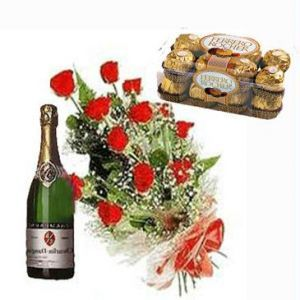 Red Roses, Chocolates & Champagne