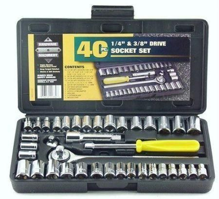 40 PC Socket Wrench Set Multifunction Tool Kit