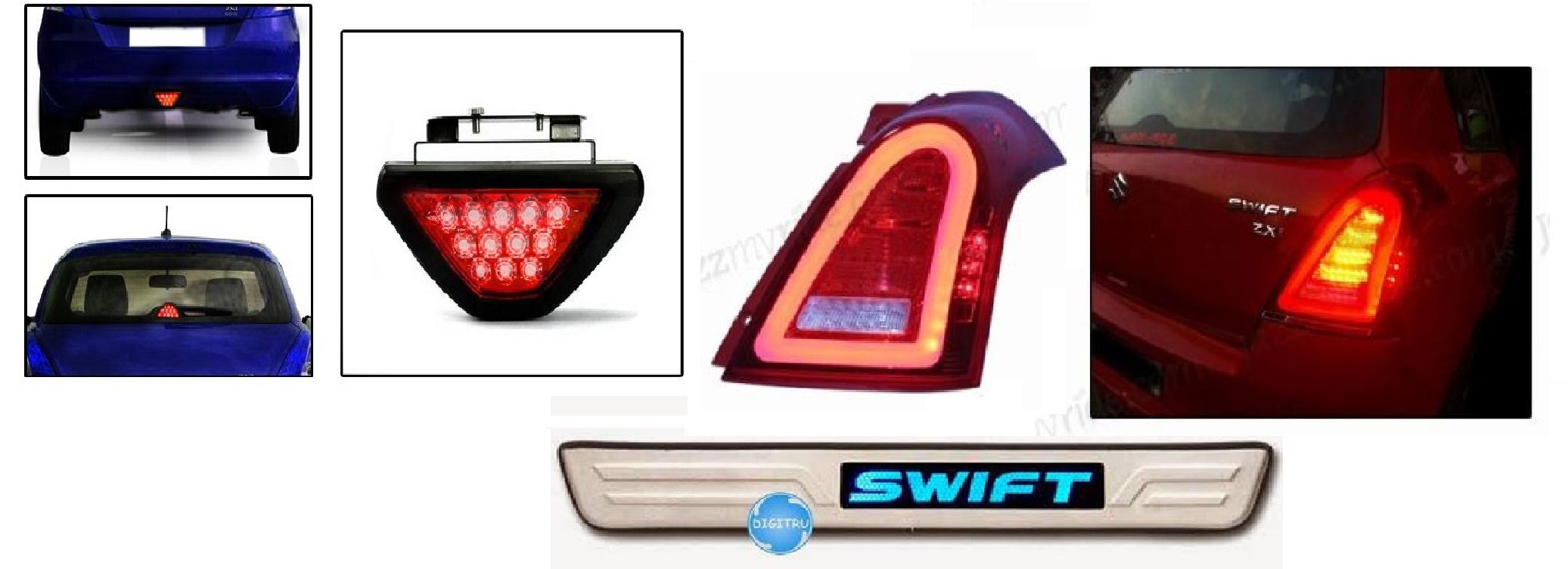 Car parking stickers design india - Led Lights Swift