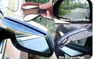 Rear view mirror rainproof shade
