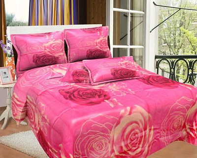 Bombay Dyeing Rose Bed Sheet