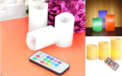 Colour Changing LED Candles with Remote