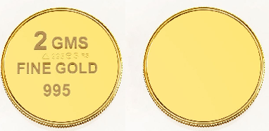 Two gram gold coins