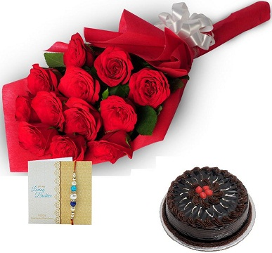 Rakhi Cake Bouquet Hamper