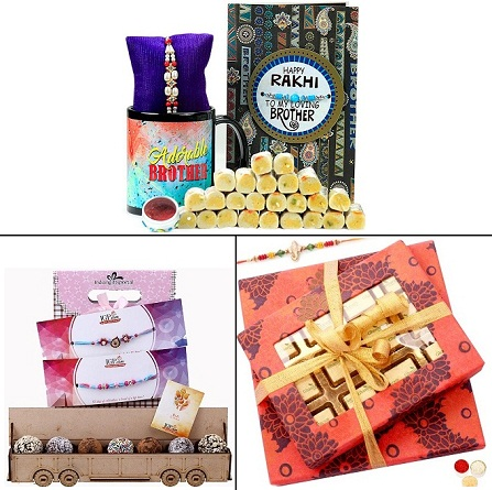 Rakhi Mithai and Chocolate Hamper