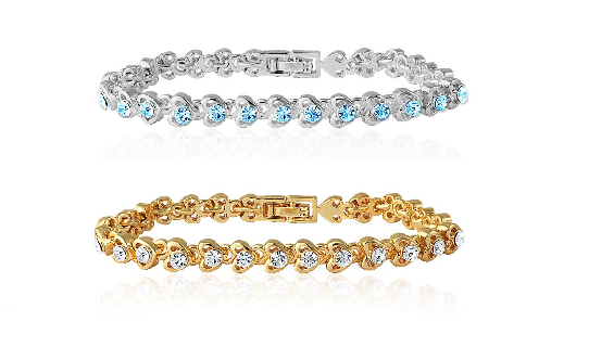 Beautiful crystal bracelet for your lady luck