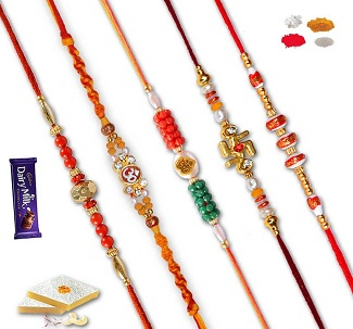 Set of 5 Rakhis