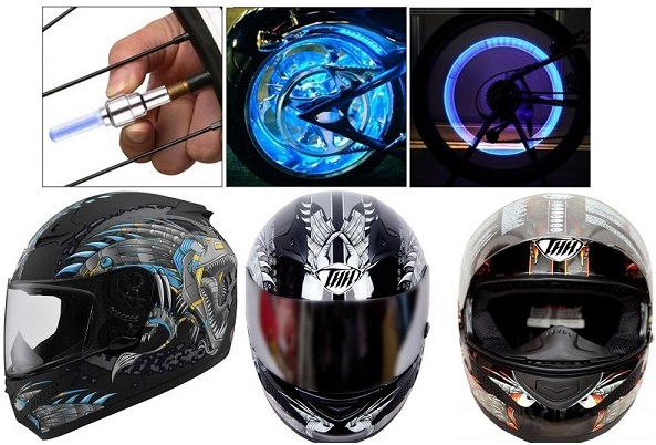 Bike Wheel LED & Helmet