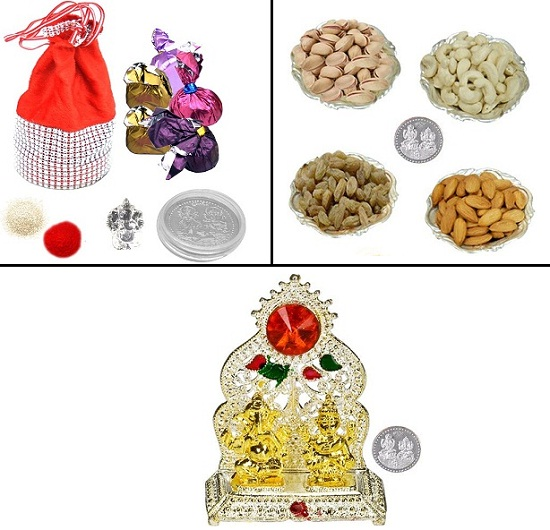 Diwali gifts with free silver coin