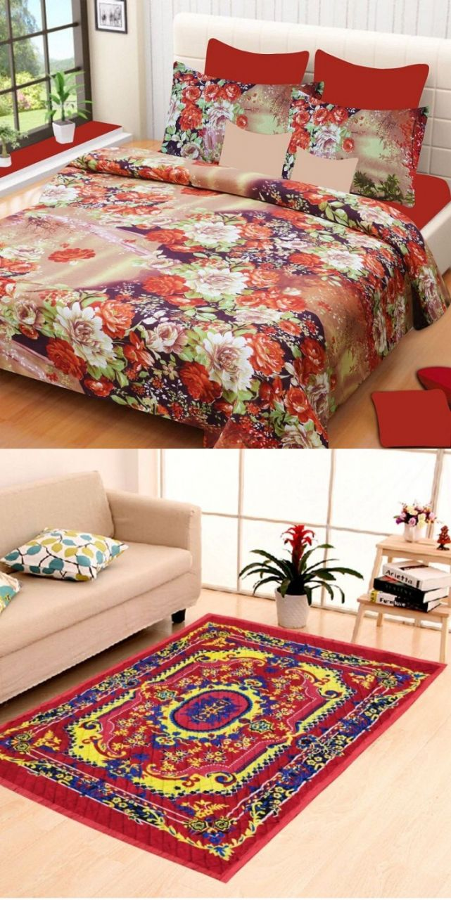 Bedsheet and carpet