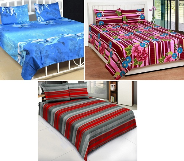 Buy Double Bed Sheet Sets Under Rs 500