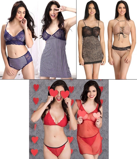 Bralettes with Baby doll Sets