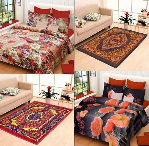 Bed sheet and carpet combos