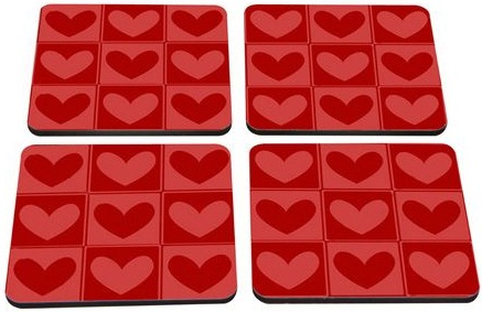 Valentine's special coasters