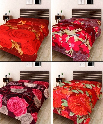 Buy Set Of 2 3D Double Bedsheets @ Rs 399