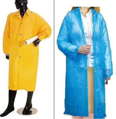 Long raincoats