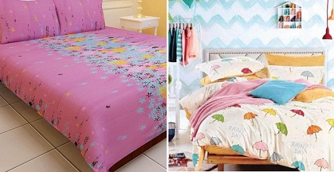 Tiny print bedsheets