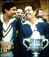 Kapil Dev and Mohinder Amarnath