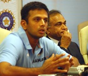 Rahul Dravid and BCCI secretary Niranjan Shah