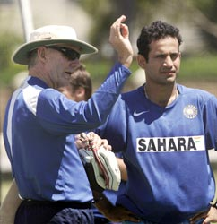 Chappell with Irfan Pathan