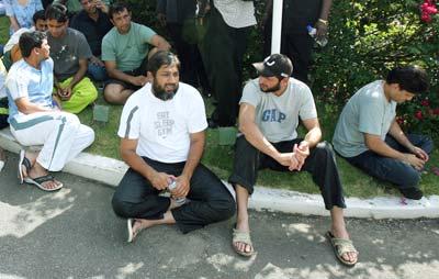 Inzamam-ul-Haq and Shahid Afridi