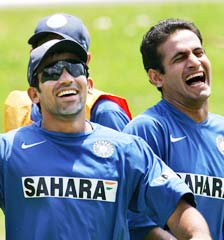 Zaheer Khan with Irfan Pathan