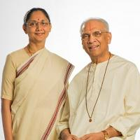 Swami Parthasarathy with his daughter Sunanda