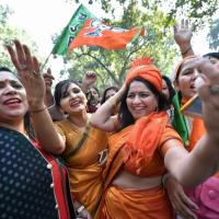 This is a file pic. The EC has banned victory celebrations