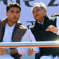 Sachin Pilot and Ashok Gehlot in better times