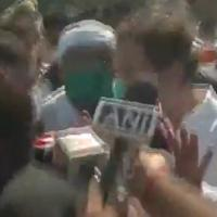 Screen grab of the video showing Rahul speaking to reporters